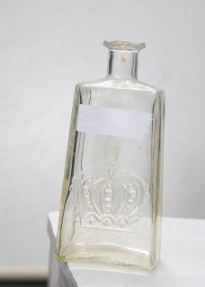 Vintage Crown Royal Glass Decanter