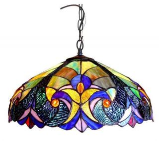 Handcrafted Stained Glass Victorian Hanging Pendant Lamp 18 Shade