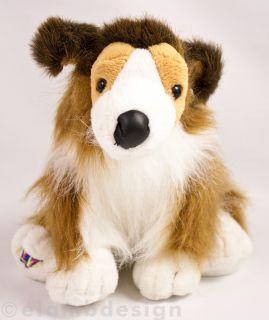 Ganz Webkinz Collie Puppy plush stuffed animal pup dog brown white No