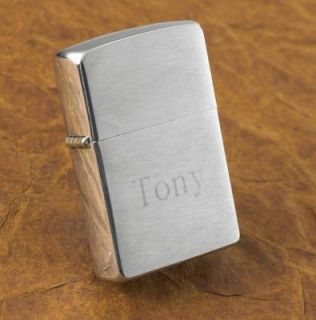 zippo lighter brushed chrome free engraving