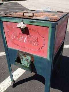 Original Rare 1920s Coke Glasscock Cooler vintage vending machine coca