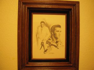Glen Fortune Banse Lithograph on Art Paper Elvis 1977