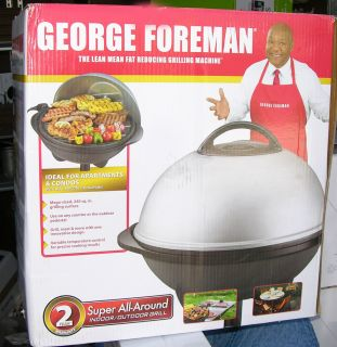 NEW George Foreman LARGE 240 Sq Inch Indoor Outdoor Grill Round