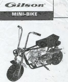 Gilson Snowmobile Mini Bike GoCart Parts Manual Set