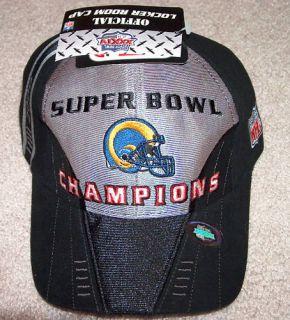 St Louis Rams Super Bowl XXXIV Champion Hat Locker Room