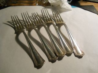 Simeon L George H Rogers Co A1 Silverplate Dinner Forks 5
