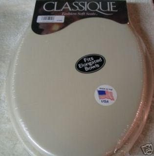 Features of GINSEY CLASSIQUE ELONGATED CUSHION SOFT PADDED TOILET SEAT