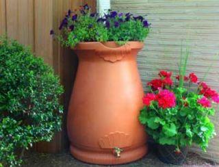 65 Gallon Rain Storage Barrel Water Garden Wizard Urn