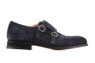 Churchs Mens Classic Suede Formal Shoes Cowes Monk Strap COWES173SPI