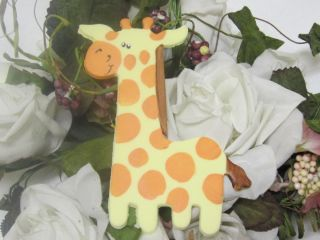 Shower Safari Jungle Animals Cold Porcelain Cake Top Giraffe 41 4 H
