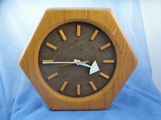 Vintage Howard Miller George Nelson Hexagon Clock Eames Era