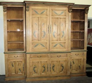Antiques and Country Pine Entertainment Wall Unit