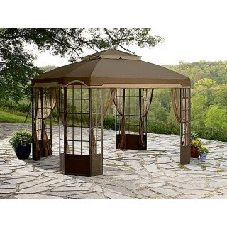 NEW GARDEN OASIS Replacement Canopy For Bay Window Gazebo 12 X 10