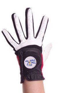 Kids Junior Left Hand Golf Glove for Right Handed Golfer Black White