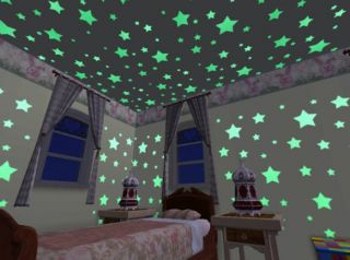 Glow in Dark Colored Stars Multicolor Glowing Star Putty Toysmith Room