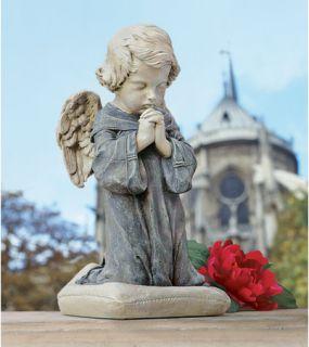 Bended Knee Statue Praying Baby Angel Sculpture Garden Statue
