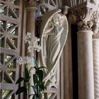 18th Century Heavenly Angel Garden Wall Sculpture Architectural Art