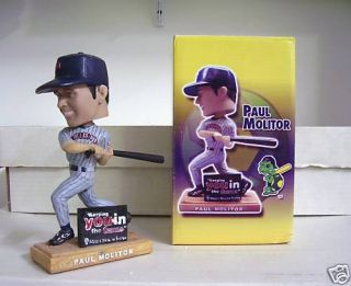 Paul Molitor Bobble Bobblehead SGA Must Glue Bat In