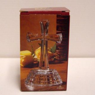 DePlomb St George Religious Clear Crystal Cross w Box 7 USA New