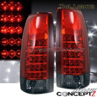 88 98 Chevy GMC Sierra CK Truck Tail Lights LED Tahoe C K 1500 2500