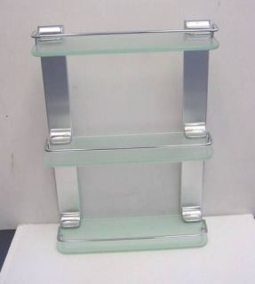 Wall Mounted Glass Shelf in Chrome Plated A8903F