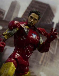 Custom Marvel Legends Avengers Ironman Unmasked Robert Downey Tony