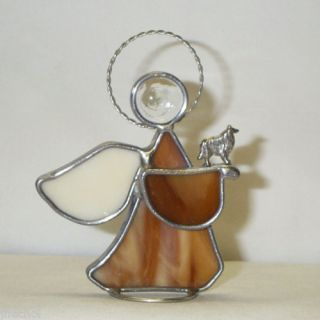 Collie Handmade Stained Glass Angel 2 Different Types