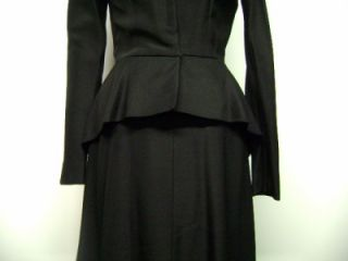 1940s Vintage Jacques Fath Paris Joseph Halpert Coat Dress Great