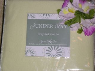 GET READY FOR WINTER JUNIPER BAY LIME GREEN QUEEN SIZE JERSEY KNIT