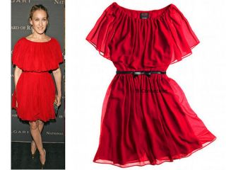 Giambattista Valli Impulse Overlay Dress 4 SJP Red Without Belt