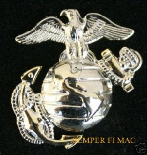 US Marines Eagle Globe Anchor Hat Pin Gold EGA USMC
