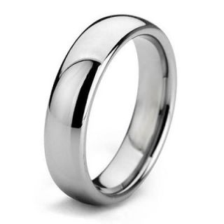 White Gold Color Titanium Rings Wedding Band Size 5 15