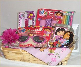 Dora Gift Basket Sticker Candy Watch Sun Glasses Glitter Pencils Rope
