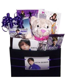 New Justin Bieber Valentines Gift Basket Set NIP