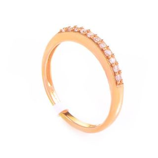 10K Rose Gold Diamond Band Ring