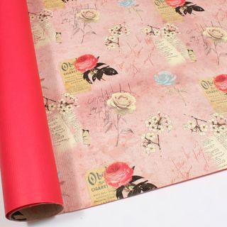 Pink Rose Double Sided Gift Wrapping Paper 30 3 Large