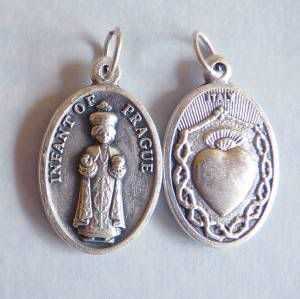 Infant of Prague Catholic Religious Patron Saint Medal