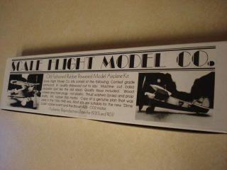 Scale Flight Model Megow F F Model Airplane Kit