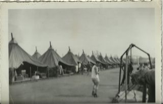WWII War Authentic Photograph Tent City