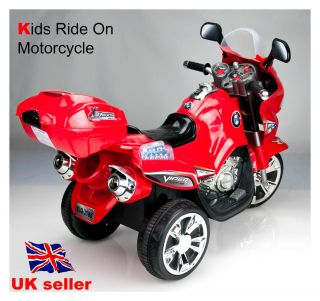 Kids Ride on 3 Wheels Motorcycle Bike 6V Electric Battery Powered Toy