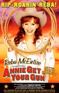 Broadway Poster Reba McEntire Annie Get Your Gun