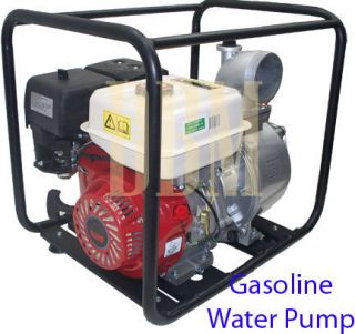 Gasoline Engine Powered Semi Trash Utility Water Pump 9 0 HP 4
