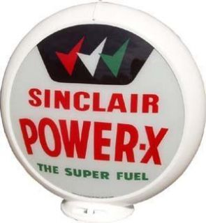 Sinclair Power x Super Fuel Gas Pump Globe Sign