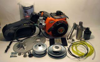 Racing Go Kart Mini Bike Engine Pkg Briggs 10 HP Torque Converter 7