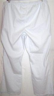 New DG2 White Diane Gilman Stretch Denim Bootcut Jeggings 3XT Plus