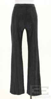 Gianni Versace Black Shimmer Pants Size 40 New
