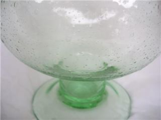 Huge Light Green Glass Vase Fish Tank Drug Store Candy Jar Blenko