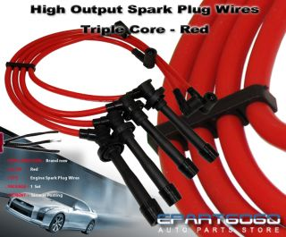 10 2mm Racing Spark Plug Wire Set Red 1988 2000 SOHC Honda Civic D15