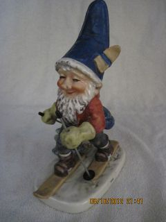Goebel West Germany Co Boy Toni The Skier Well 522 1972 Gnome Must See