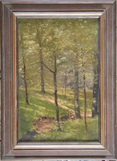 E1900 August Goeser Ohio Listed Landscape Tonalist Impressionist Oil